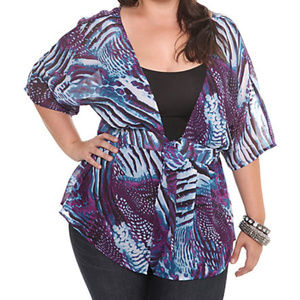 Torrid animal print sheer wrap 1-2x